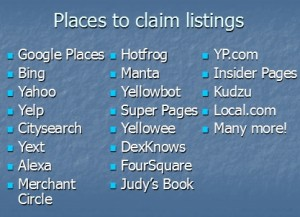 places to claim listings